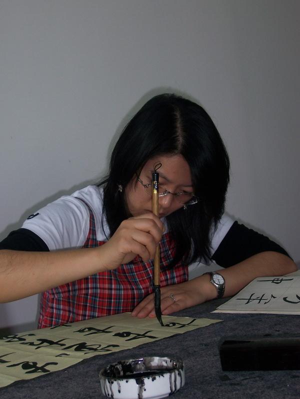 成人书法培训班上课照片