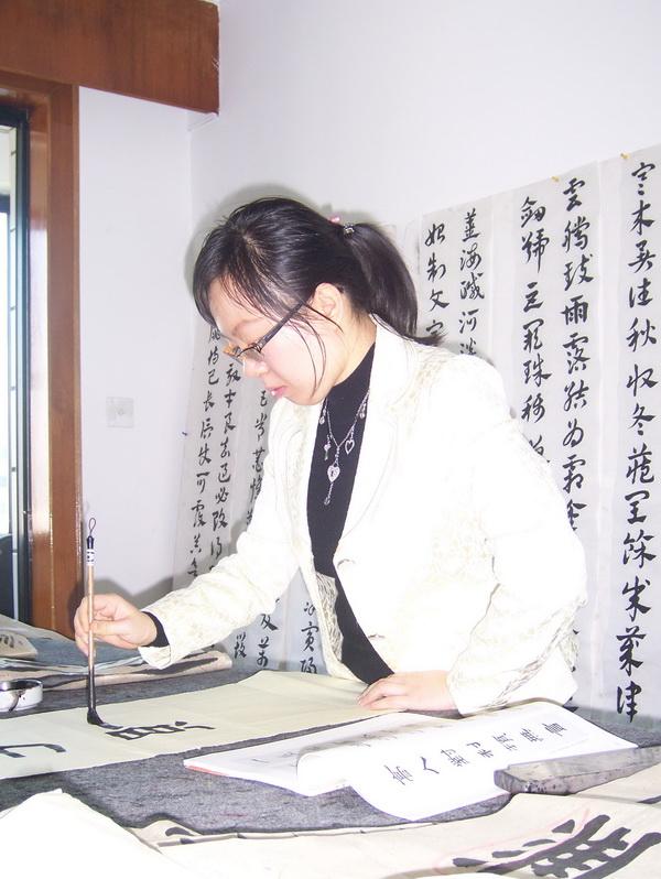 深圳成人书法培训照片